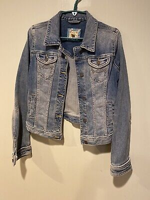 Abercrombie and Fitch Jean jacket blue Womens Size Large