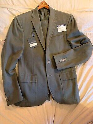 Polo Ralph Lauren Green Wool Harvard Suit 38 R Custom Fit RRL $1,875.00 Custom Fit Three Button Suit