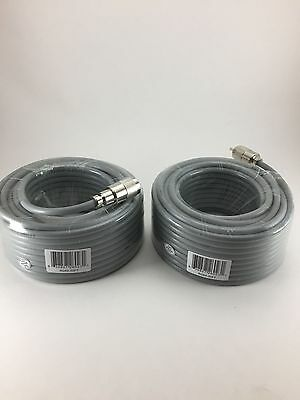 TWO 50FT RG-8x COAX COAXIAL CABLE HAND SOLDER w/PL-259 CB HAM RADIO RG8 NEW! . Buy it now for 58.95
