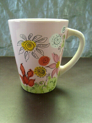 STARBUCKS - Pink Floral Coffee Mug -