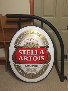 Stella Artois beer sign