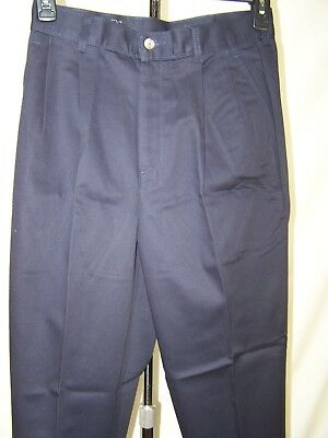 (HIS Blue Pleated Front Four Pocket Business Dress Pants Mens Size 30x32)