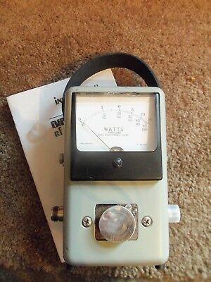 Bird 43 Thruline Wattmeter Watt Element Slug Reading Meter / NICE