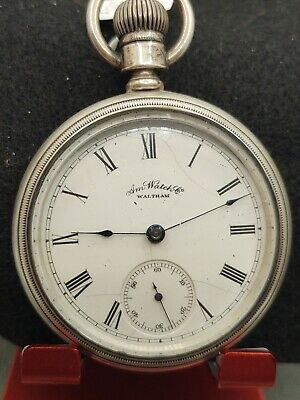 WALTHAM MODEL1883 POCKET WATCH WALTHAM MARKED COIN SILVER CASE 18S 11J
