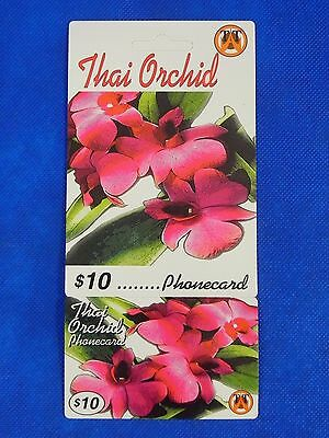 Vintage Collectible Prepaid Phone Card Thai Orchid $10 NEW Pink Flower