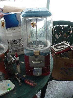 Oak Acorn 1 cent Gumball Machine Small Gum Ball Wheel
