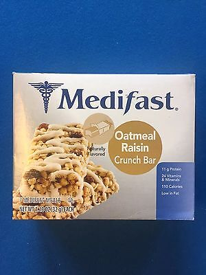 Medifast Oatmeal Raisin Crunch Bars   7 Bars   Exp 2 23 18   Free Shipping