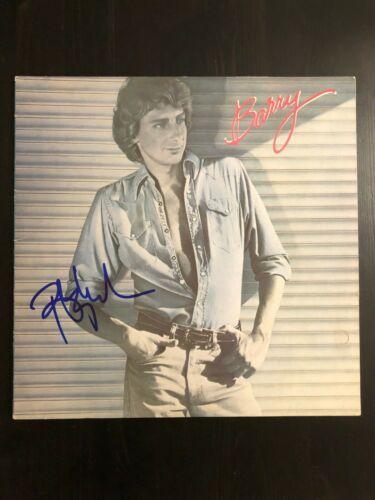 BARRY MANILOW SIGNED AUTOGRAPH - VINYL ALBUM RECORD LP - COPACABANA, LEGEND