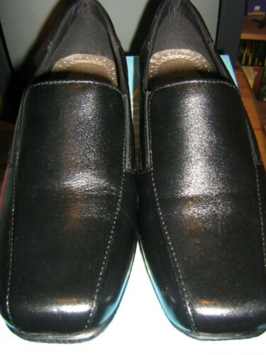 Mod+Comfys+Size+UK+6+Black+Leather+Casual+Slip+On+Shoes+Driving+Heel+New