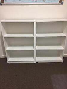 BOOKCASES (2) WHITE EACH Or $50 pair Mount Barker Mount Barker Area Preview