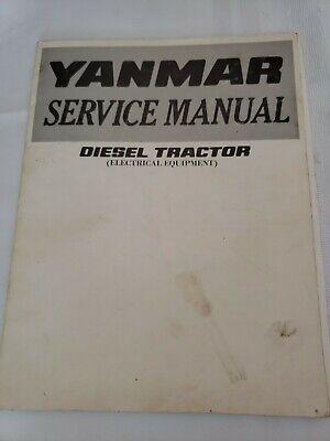 Yanmar Diesel Tractor Electrical Equipment Service Manual Batteries Starters Etc