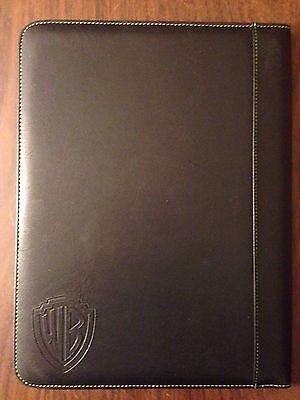Black Leather Warner Brothers Matrix Folder Comes W30 Sheet Notepad New In Bag