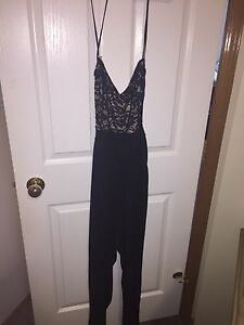 Sexy back-less  jumper with lace bust size Large