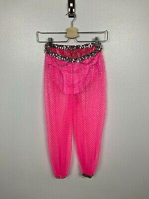 Mädchen Kostüm Hose Größe L (10-12) Aladdin Prinzessin Paillette Gepunktet Pink