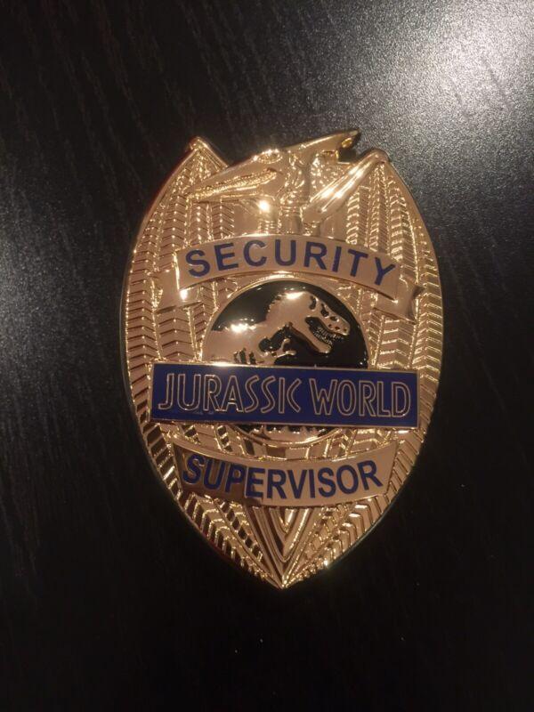 Rare Jurassic World Prop Replica Security Supervisor Badge
