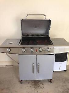 4 Burner Stainless Steel BBQ with Wok burner 2 door stand Gawler East Gawler Area Preview