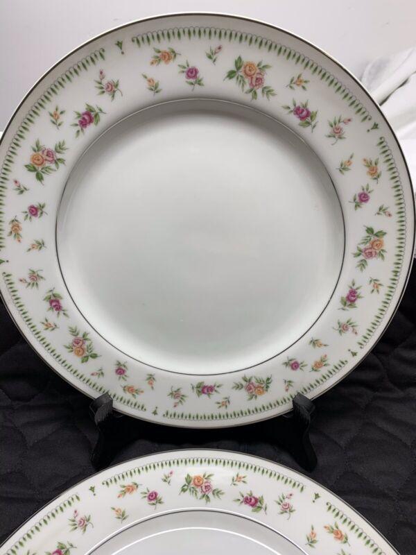 Abingdon Japan Fine Porcelain China  Set of 4  Dinner Plates Excellent Condition