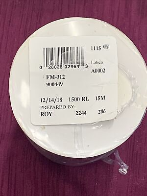 Genuine Monarch 1115 1215 White Labels 10 Rolls - 900449