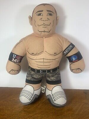 "2011 WWE JOHN CENA 16"" BRAWLIN BUDDIES TALKING WRESTLER PLUSH"