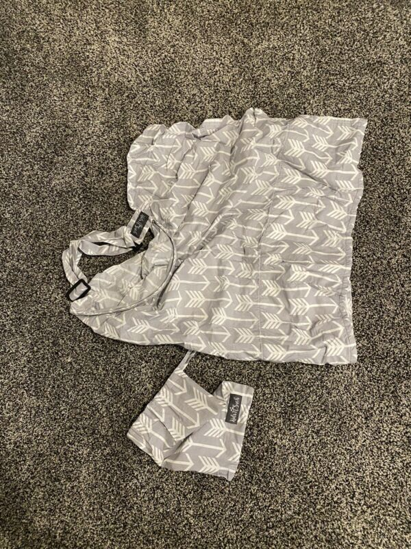 Kids N Such Gray and White Nursing Cover Up