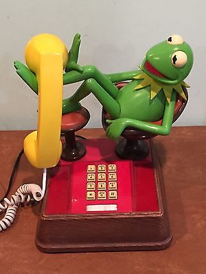 Vintage Jim Henson Kermit the Frog Muppet Touch Tone Telephone c. 1980s