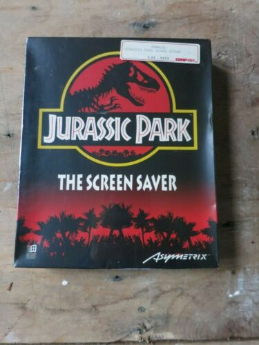 Jurassic Park - Screen Saver - Asymetrix  - Rare, Vintage  - NEW / SEALED IN BOX