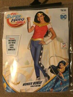 DC Super Hero Girls Wonder Woman Child Costume Small (4-6) Rubie's 620716 - New!