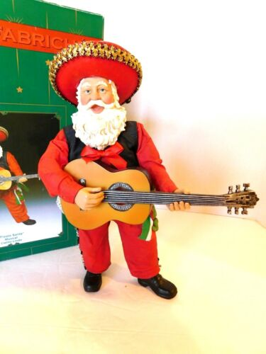 "Kurt Adler KSA Collectibles Musical FABRICHE Fiesta Santa Plays ""Cielito Lindo"""