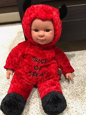 Sugar Loaf Soft Plush Red Devil Toy Costume Baby Doll Halloween Trick or - Halloween Soft Toys