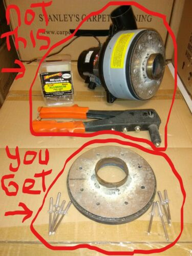 carpet cleaning central  vacuum motor ametek - 2 inch male adapter rivet tape on