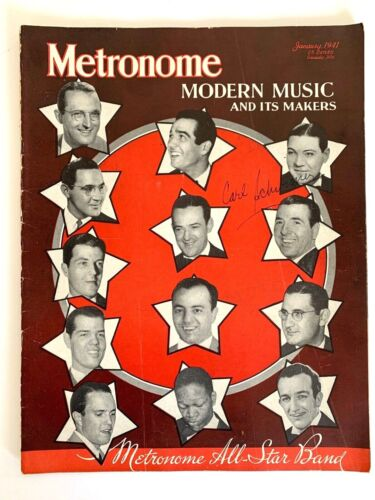 Vintage Metronome Magazine All-Star Band Cover January 1941