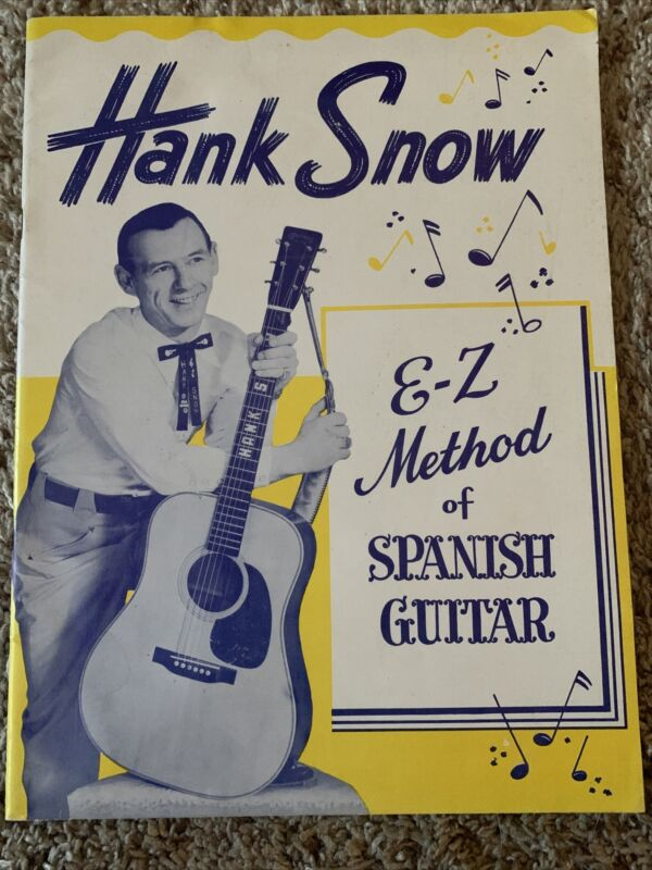 1958 Vintage HANK SNOW How to Play SPANISH GUITAR Instruction Book