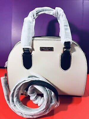 Kate Spade Handbag Mini Reiley Laurel Way Gardenia Ivory/Black RRP£275 On Sale