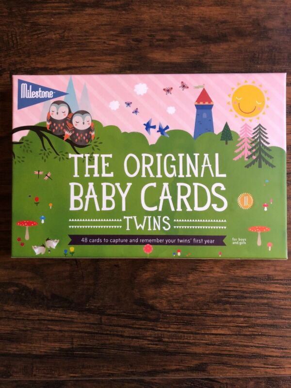 Milestone Original Baby Photo Cards for Twins Capture Special Moments 48 cards