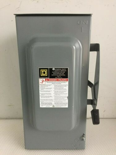 SQUARE D D323NRB 100 AMP 240 VOLT 3 PHASE FUSED OUTDOOR DISCONNECT..D-536