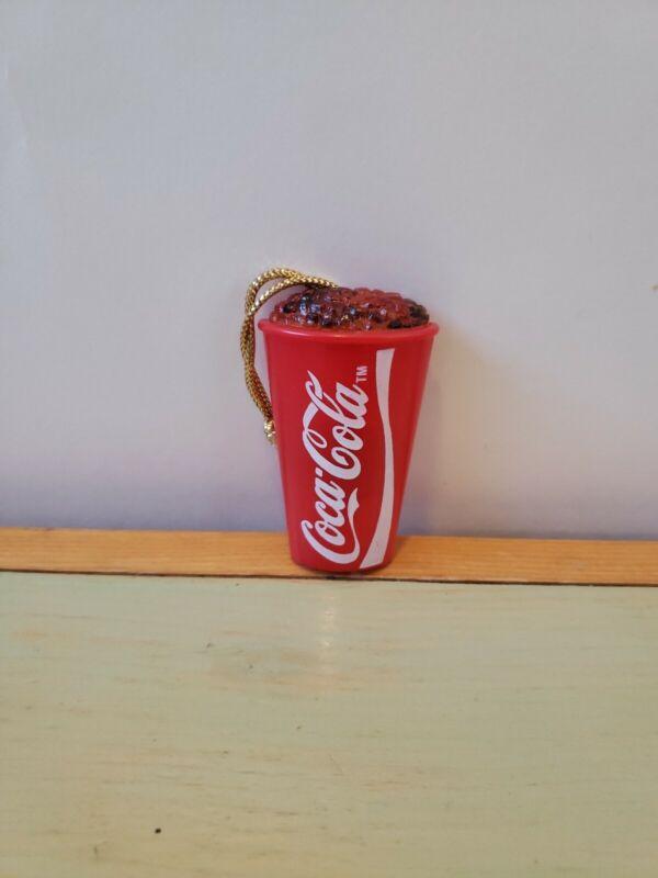 "Vintage Coca Cola Mini Miniature Magnet Plastic Cup With Ice - 2.25"" Tall"