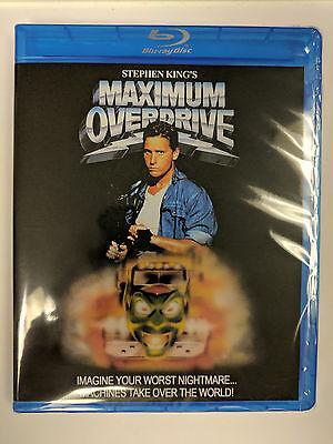 Maximum Overdrive 1986 Blu Ray Region Free Stephen King Emilio Estevez Extras