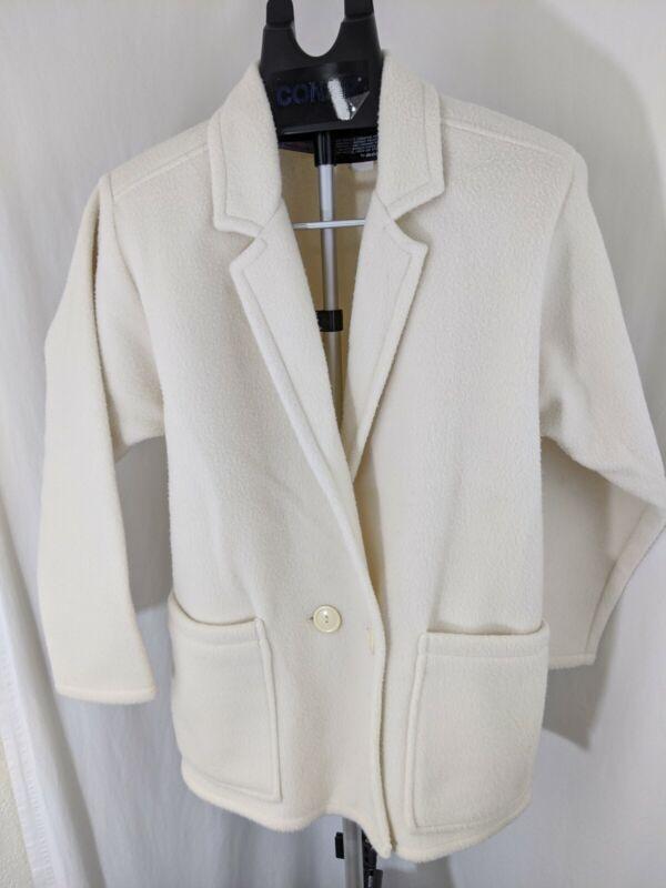 vintage 90s 80s Seperate Editions Fleece button up cream polar fleece jacket