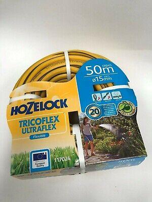 Hozelock Tricoflex Ultraflex Yellow Hose, 50m x 15mm (will fit 1/2 inch fitting)
