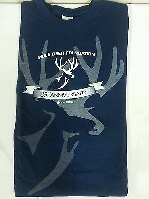 MULE DEER FOUNDATION 25TH ANNIVERSARY HEAVY COTTON SHORT SLEEVE T-SHIRT SIZE XL