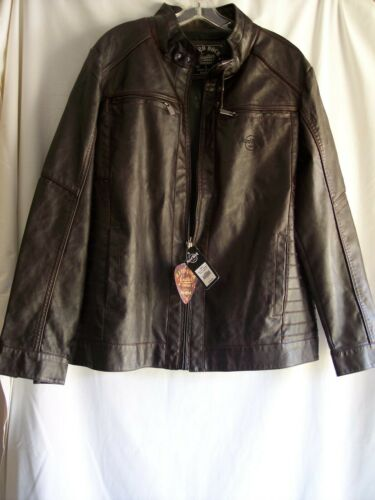 Stylish New XL HARD ROCK CAFE GUITAR COMPANY LEATHER JACKET 6 Pockets $150Tag