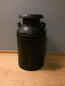 Antique milk canister