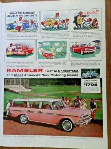 1960 Rambler Custom Cross Country Station Wagon Ad  Baseball Theme