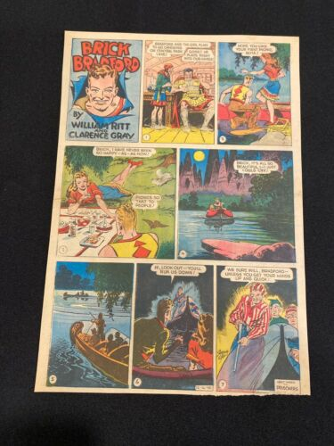 #37 BRICK BRADFORD by Clarence Gray Lot of 4 Sunday Tabloid Full Pages 1945