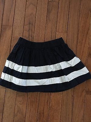 baby Gap ~ Girls Navy Blue and White Striped Skirt ~ Nautical ~ 2T ~ Adorable!!!