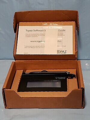 New Topaz E-signature Pad 9-pin Connector Siglite 1 X 5 T-s460-b-r Serial Port