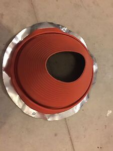 Rubber chimney/roof seal