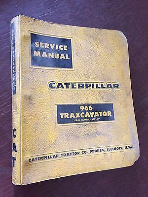 Caterpillar Cat Crawler 966 Traxcavator Loader Service Manual 33a
