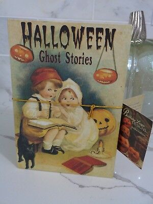 Bethany Lowe Halloween Vintage Inspired Post Card GHOST STORIES stash BOOK - Vintage Halloween Book Boxes