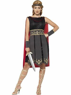 Roman Warrior Gladiator Womens Costume Ladies Fancy Dress Outfit Dressup